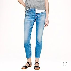 J.Crew Reid Crop Jean in Light Hickman Wash